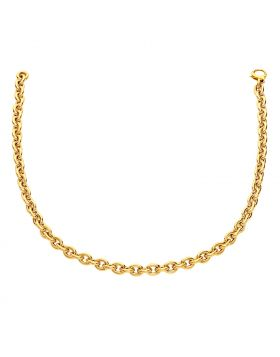 14k Yellow Gold Polished Cable Link Necklace-18''