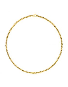 14k Yellow Gold 17 inch Braid Link Necklace