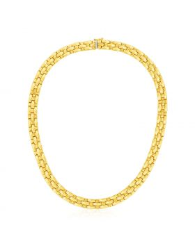 14k Yellow Gold Basket Weave Necklace