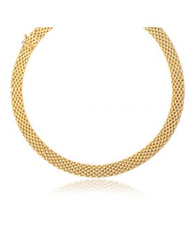14k Yellow Gold Flexible Panther 9.0mm Line Necklace