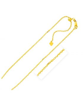 Sterling Silver Yellow Finish 1.5mm Adjustable Cable Chain-22''