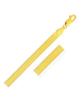 5.0mm 14k Yellow Gold Super Flex Herringbone Bracelet-8''
