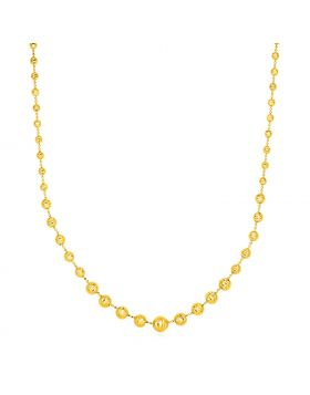 14k Yellow Gold Graduated Beaded Necklace