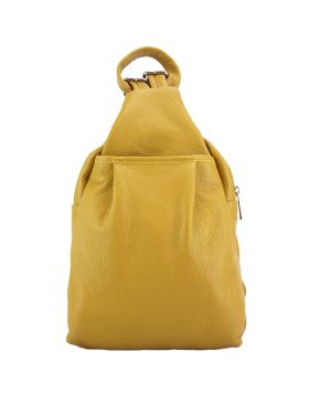 Harper leather backpack -  yellow