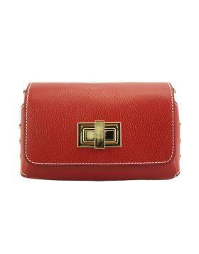 Martina MM leather bag -  light red