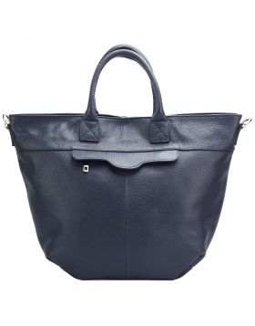 Raffaella leather tote bag -  dark blue