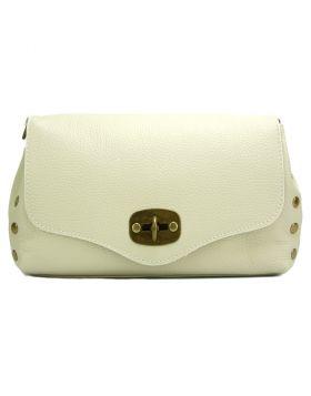 Cipressino leather Cross-body bag -  beige