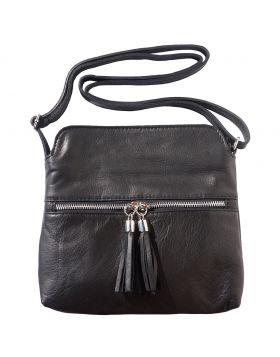 BE FREE leather crossbody bag - Black