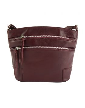 Arianna leather crossbody bag - Bordeaux