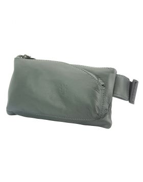 Vivaldo Fanny Pack in leather - Dark Grey