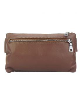 Vivaldo Fanny Pack in leather - Brown