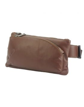 Vivaldo Fanny Pack in leather - Brown