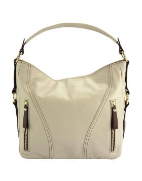 Sabrina GM leather shoulder bag - Beige