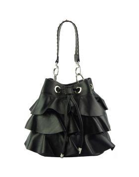 Ileana leather bucket bag - Black
