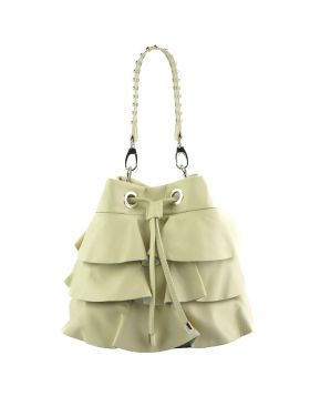 Ileana leather bucket bag - Beige