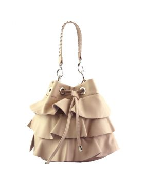 Ileana leather bucket bag - Pink