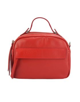 Lorena leather Handbag - Red