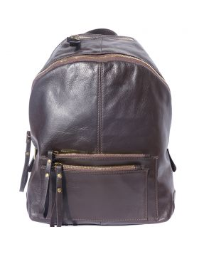 Springs leather Backpack - Dark Brown