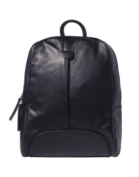 Cinzia leather Backpack - Black