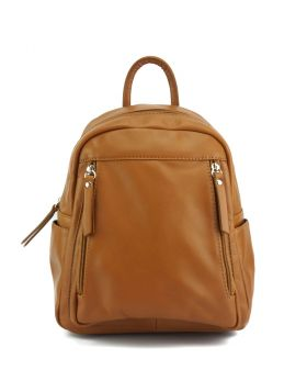 Santina leather Backpack - Tan