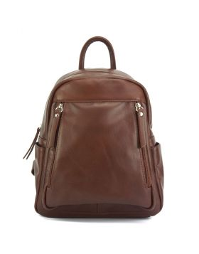 Santina leather Backpack - Brown
