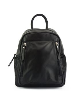 Santina leather Backpack - Black