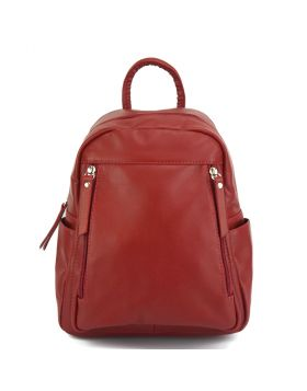 Santina leather Backpack - Red