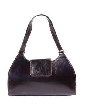 Floriana leather Handbag - Black