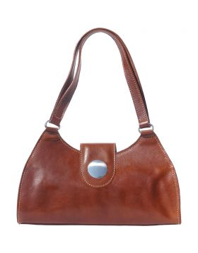 Florina leather handbag - Brown