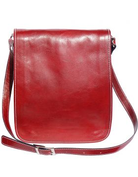 Mirko MM leather Messenger bag - Red
