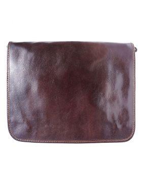 Business Briefcase (w/ shoulder strap) - Dark Brown