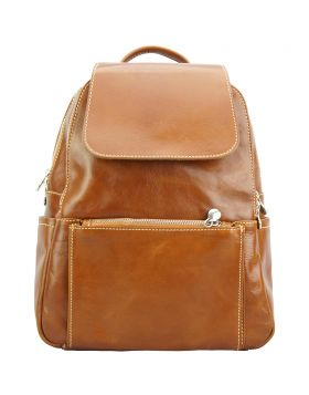 Brittany Backpack in cow leather - Tan