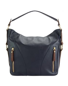 Sabrina GM leather shoulder bag - Blue