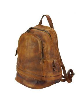 Marinella Leather Backpack - Tan