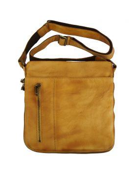 Oscar Cross body leather bag - Tan