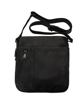 Oscar Cross body leather bag - Black