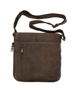 Oscar Cross body leather bag - Brown