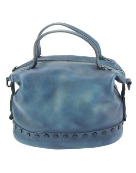 Olga leather Handbag - Blue