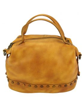 Olga leather Handbag - Tan