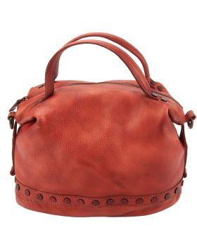 Olga leather Handbag - Red
