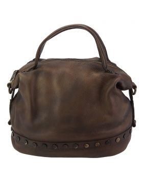 Olga leather Handbag - Brown
