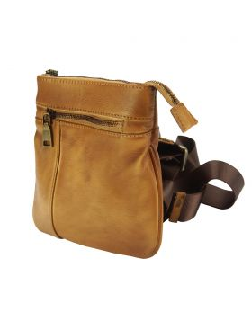 Frontiniano Crossbody leather bag - Tan