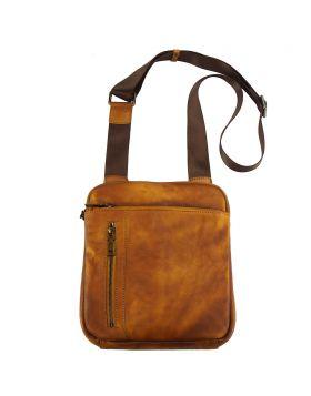 Gaspare cross body leather bag - Tan