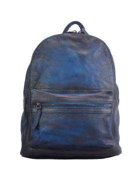 Josh Backpack in vintage calfskin - Blue