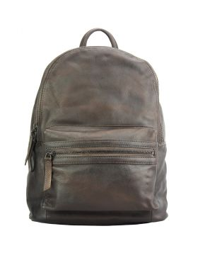 Jake Backpack in vintage-calfskin - Dark Brown