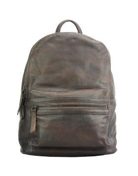 Jake Backpack in vintage-calfskin - Dark Brown