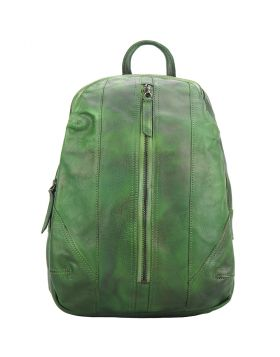 Armando Backpack in vintage calfskin - Green