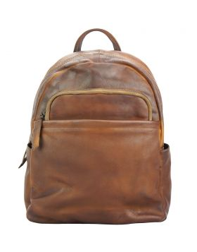 Jake Backpack in vintage-calfskin - Brown