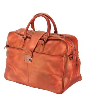 Travel bag Raimondo in vintage leather - Copper