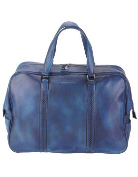 Travel bag Danilo in vintage leather - Blue